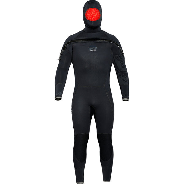 Bare 8/7mm Ultra Velocity Semi-Dry Men's Hooded Suit