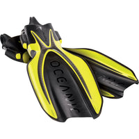 Oceanic Manta Ray Open Heel Fins with Spring Straps