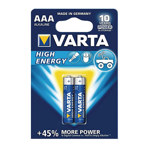 Varta AAA Two Pack Alkaline Batteries