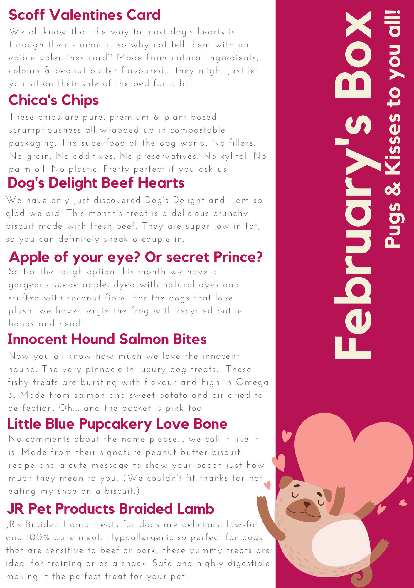 Collar Club Natural Subscription Box for Dogs - Valentine's Edition