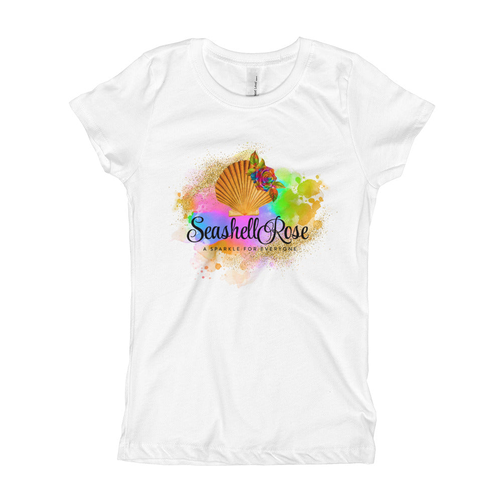 Seashell Rose Fitted T-Shirt
