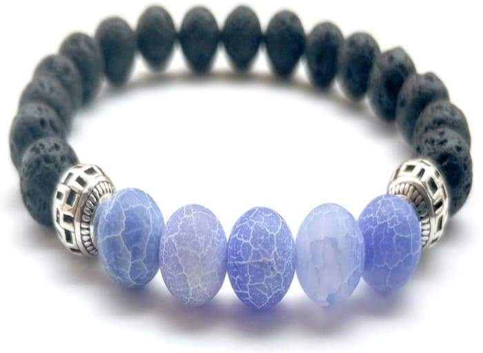 Purple Lava Stone Essential Oil Bracelet