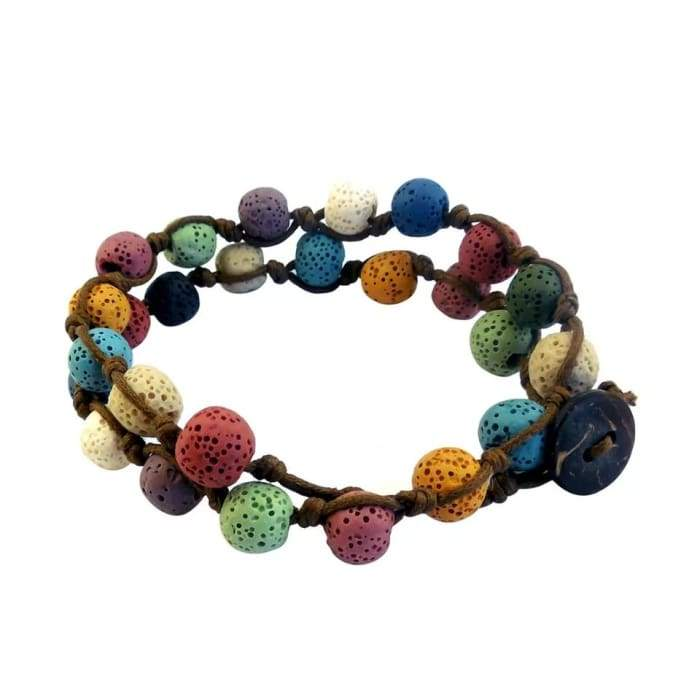 Lava Stone Essential Oil Bracelet/Necklace - Lava Charms
