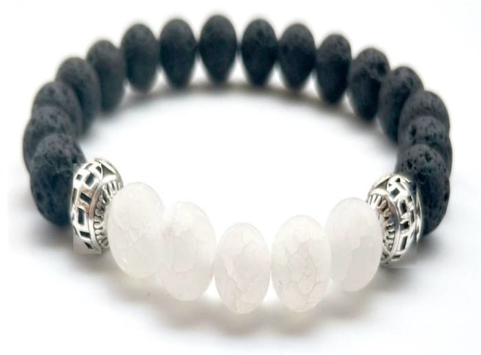 White Lava Stone Essential Oil Bracelet