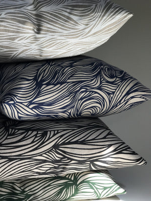 greige textiles made to order pillows.  made in the USA with handprinted linen