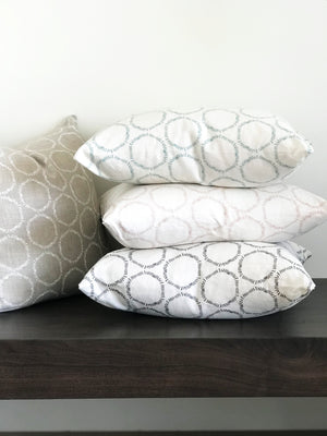 cape fabric pillows greige textiles hand drawn design hand printed in southern california