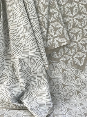 greige textiles fall release 2018 hand printed on Belgian Linen fabric in California