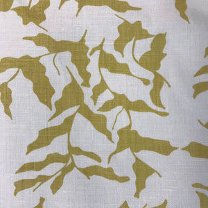 Mer Fabric Wheat on Oyster greige textiles hand printed in california