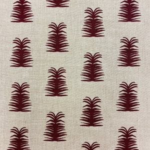 Imogene Fabric Ruby on Oatmeal