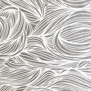 Trina Fabric White on Natural greige textiles