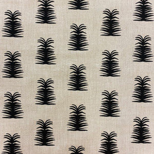 Imogene Fabric Black on Oatmeal