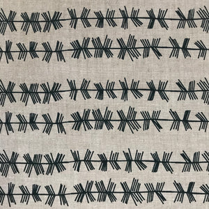 Stick Stripe fabric Dublin on Oatmeal greige textiles