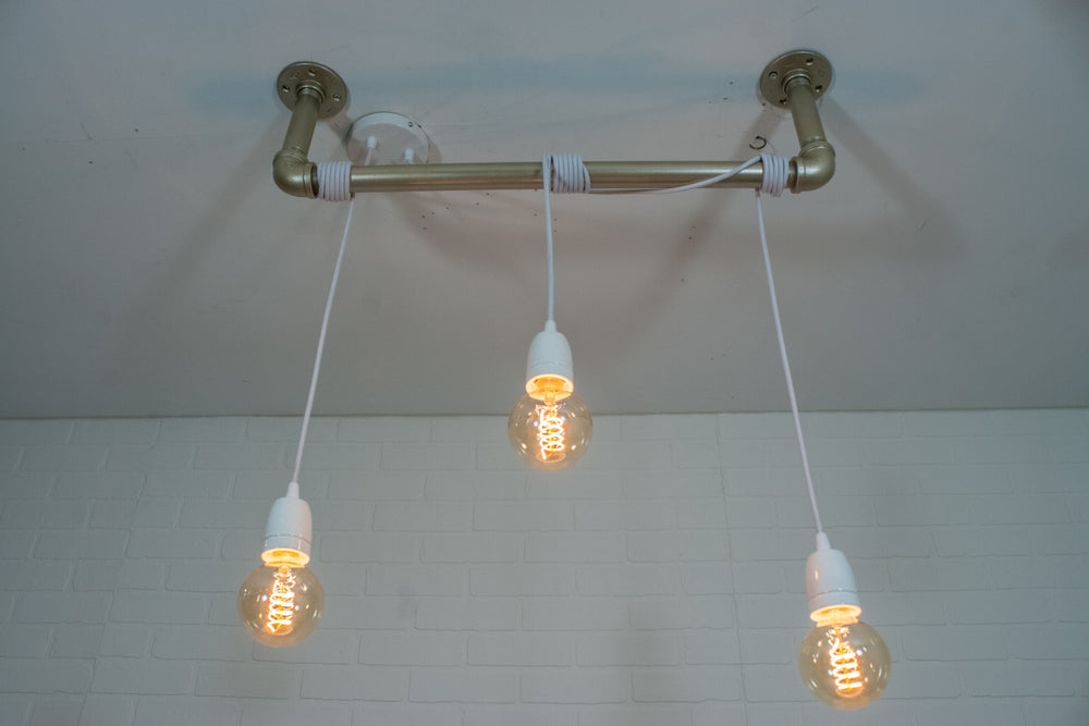 3 Edison Pendant Pipe Light