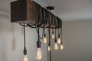 wood beam pendant lights