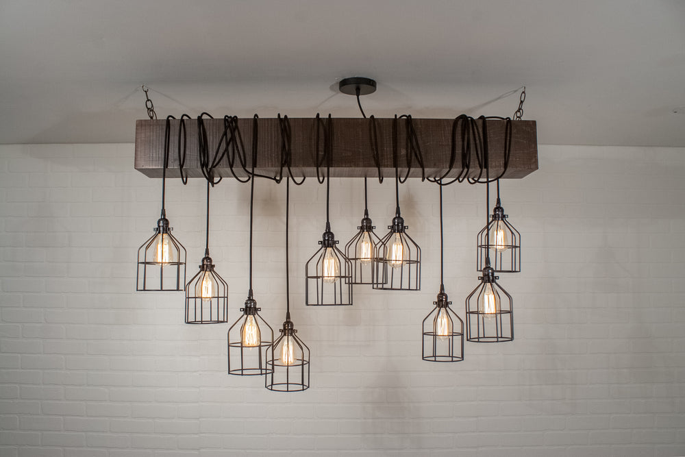 10 PENDANT BEAM LIGHT WITH CAGES