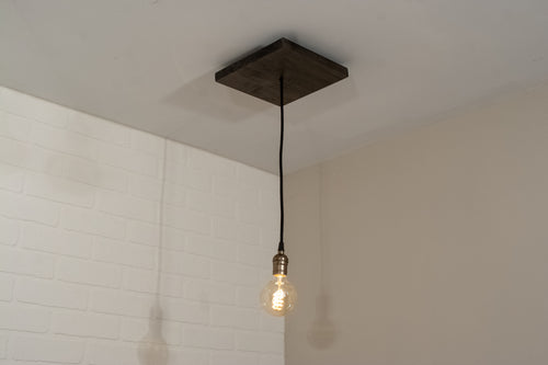 Wood Single Pendant Light