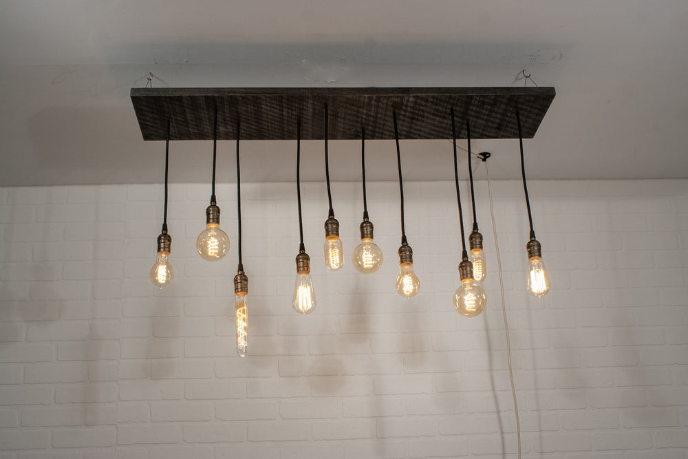 Plug In Wood Chandelier