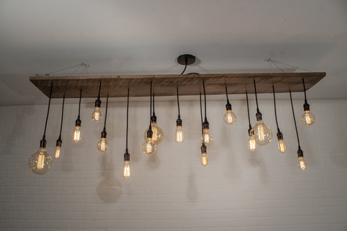 17 Pendant Wood Chandelier