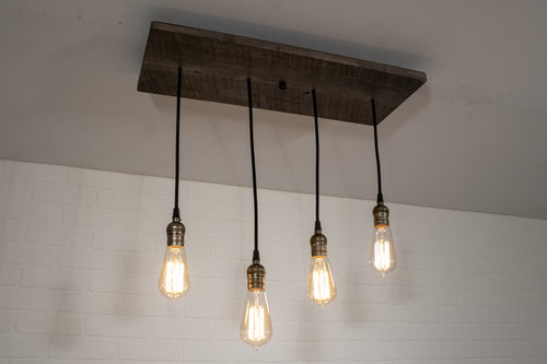 4 Pendant Wood Light