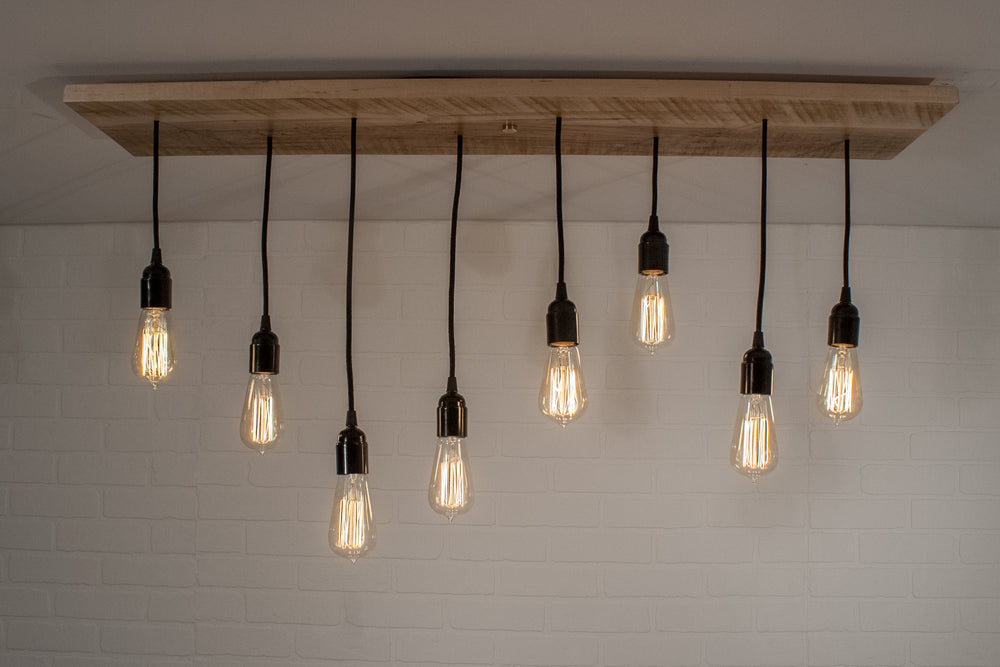 8 Pendant Wood Light