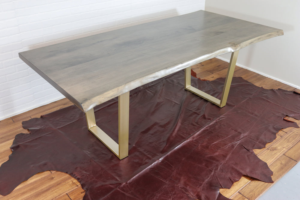 Live Edge Table on Gold Legs