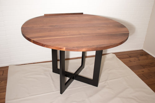 Round Walnut Table