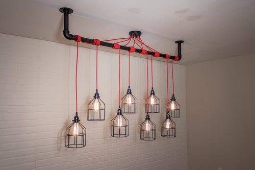 8 Pendant Pipe Light