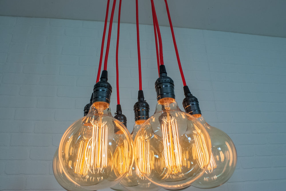 Red 7 Pendant Cluster Light