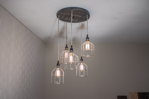 Round 5 Pendant Wood Light