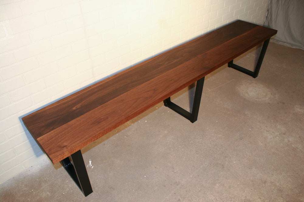 Long Walnut Bench
