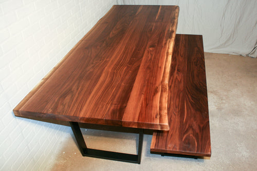 Live Edge Walnut Table and Bench