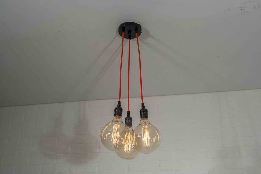 Red 3 Pendant Cluster Light