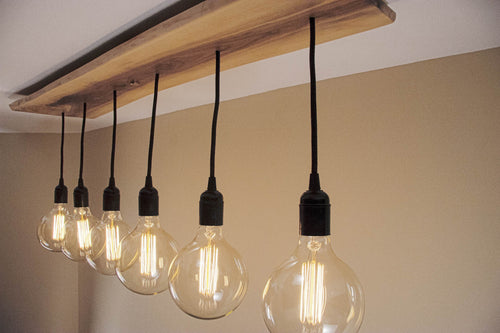 6 Pendant Walnut Light