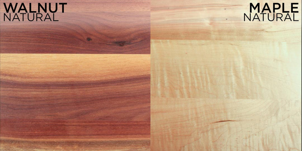 walnut vs. maple