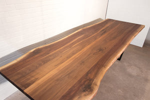 "118"" x 42"" Live Edge Walnut Table for Brittany - Loewen Design Studios"