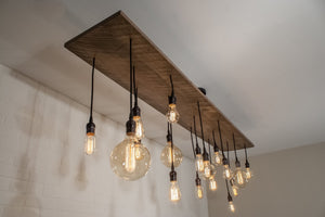 17 Pendant Wood Light Fixture - Loewen Design Studios