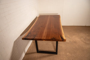 30 x 60 Live edge walnut book matched table - Loewen Design Studios