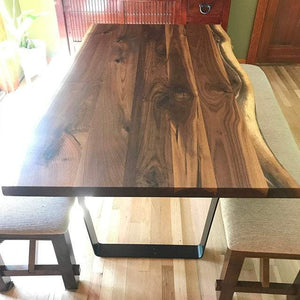 40 x 72 Live edge walnut dining table for Barbara - Loewen Design Studios