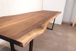 8 Foot Live Edge Walnut Table - Loewen Design Studios