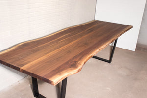 8 Foot Live Edge Walnut Table for Margaret - Loewen Design Studios