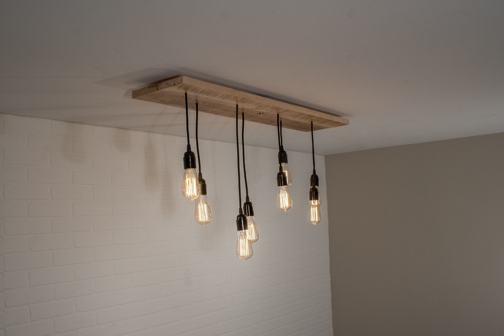 8 Pendant Wood Dining Room Light - Loewen Design Studios