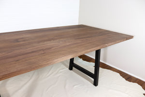 "36""W x 84""L Straight Edge Walnut Dining Table"