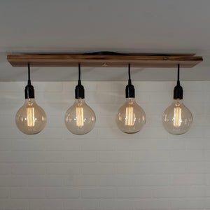 4 Pendant Ceiling Light on Walnut