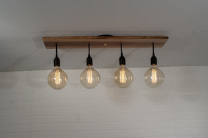 Edison Ceiling Light Fixture on Walnut