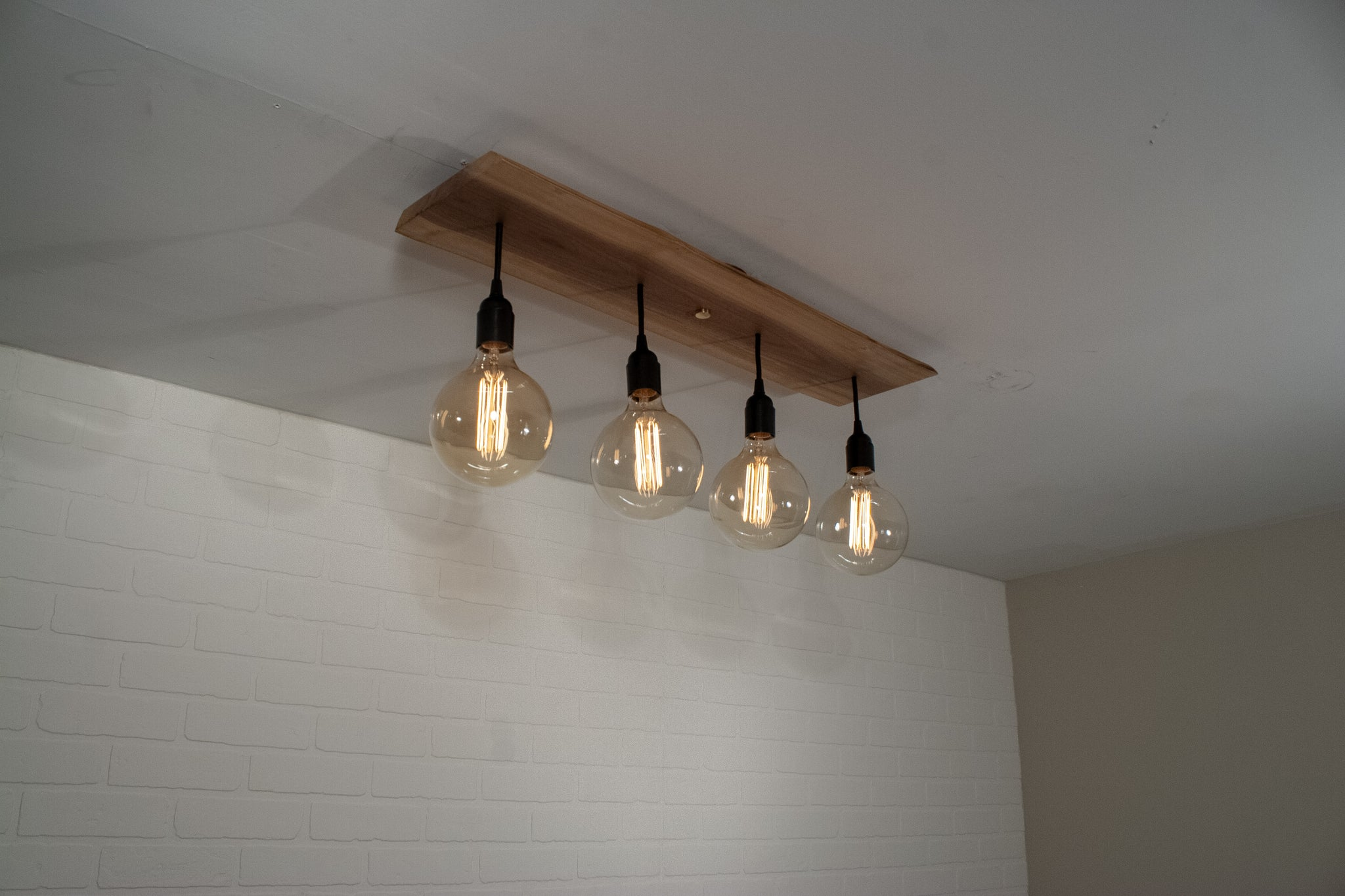 Walnut Kitchen Island Lighting