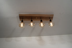 Walnut Kitchen Ceiling Lighting Fixture