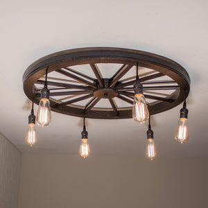 low profile wagon wheel light fixture