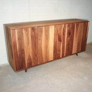 walnut dining room hutch