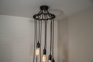 9 pendant spiral chandelier light
