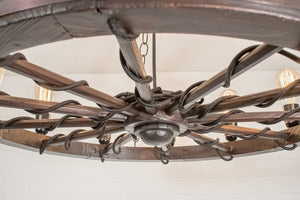 wagon wheel lighting fixture
